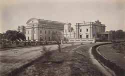Lawrence and Montgomery Halls, Lahore. Two large Halls for public meetings built by subscription in honour of Sir John (now Lord) Lawrence and Sir Robert Montgomery.